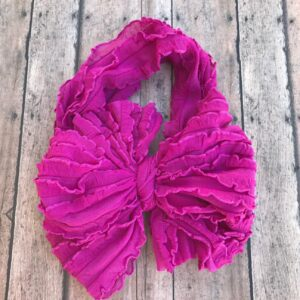 Passion Pink Messy Bow Headwrap