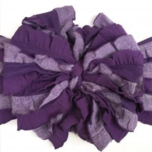 Two-toned Purple Messy Bow Headwrap