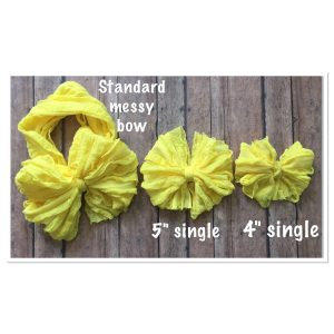 Taupe Ruffle Messy Bow Headwrap