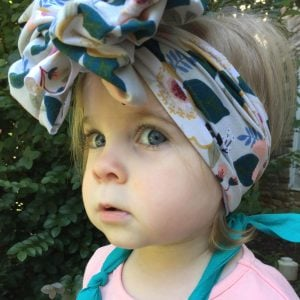 Pale Green Magnolia Messy Bow Headwrap