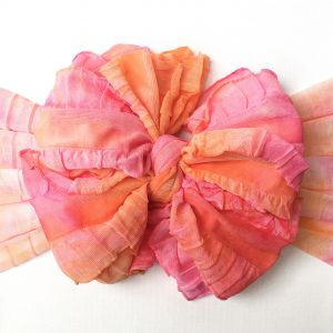 Pink and Orange Tie-Dye Messy Bow Headwrap