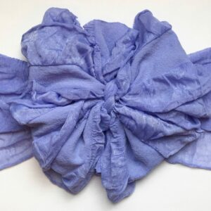 Periwinkle Ruffle Messy Bow Headwrap