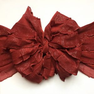 Rust Ruffle Messy Bow Headwrap