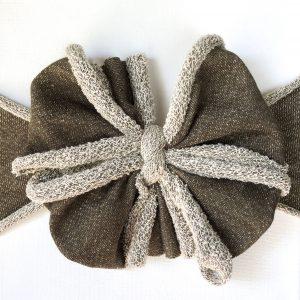 Dark Olive Messy Bow Headwrap