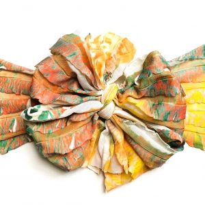 Reptile Messy Bow Headwrap