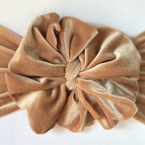 Gold Velvet Messy Bow Headwrap