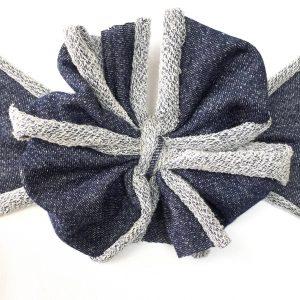Denim Messy Bow Headwrap