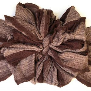 Cappuccino Ruffle Messy Bow Headwrap