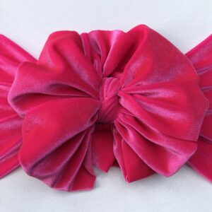 Hot Pink Velvet Messy Bow Headwrap