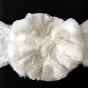 Ivory Faux Fur Messy Bow Headwrap