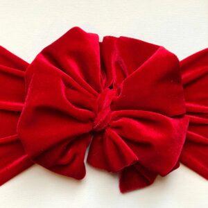 Red Velvet Messy Bow Headwrap
