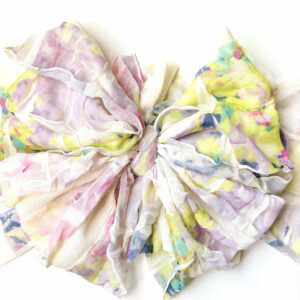 Hydrangea Ruffle Messy Bow Headwrap