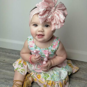 Strawberries & Cream Messy Bow Headwrap