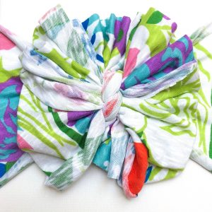 Rainforest Messy Bow Headwrap