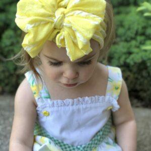 Lemonade Messy Bow Headwrap