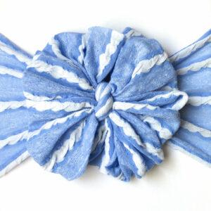 Blueberry Pie Messy Bow Headwrap