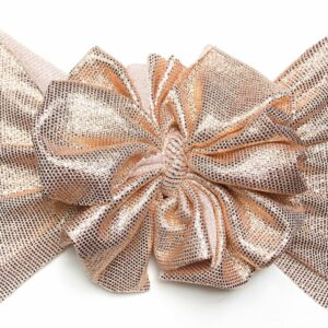 Rose Gold Messy Bow Headwrap