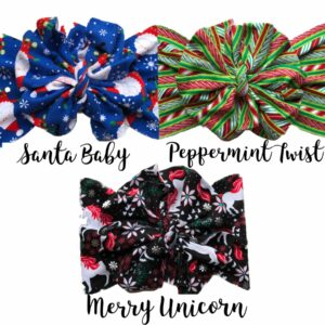 Santa Baby Messy Bow Headwrap
