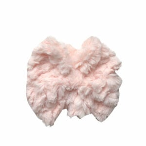 Light Pink Faux Fur Messy Bow Headwrap