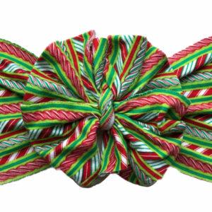Peppermint Twist Messy Bow Headwrap