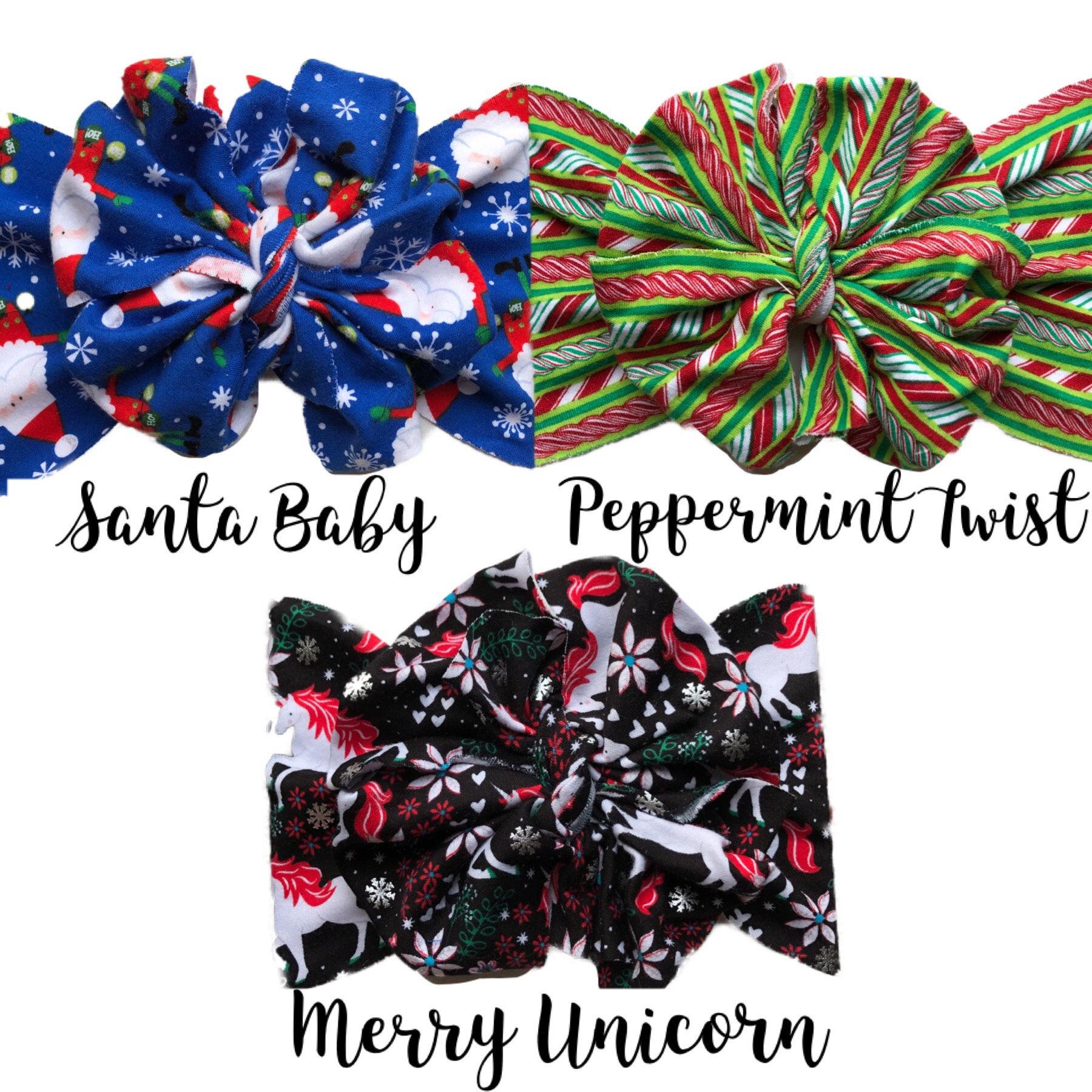 Merry Unicorn Messy Bow Headwrap