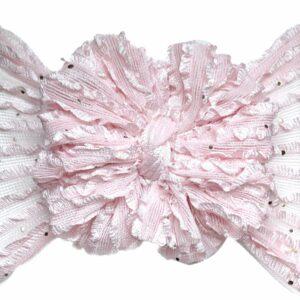 Sweet as Sugar Ruffle Messy Bow Headwrap