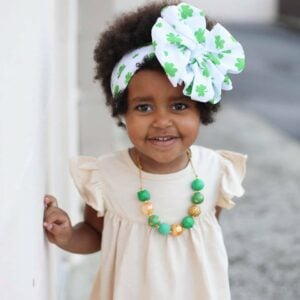 Shamrock Messy Bow Headwrap