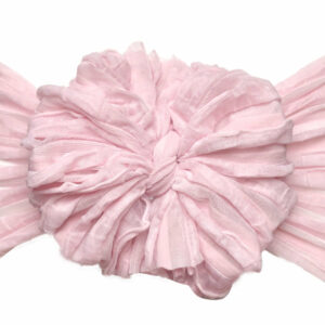 Powder Pink Messy Bow Headwrap