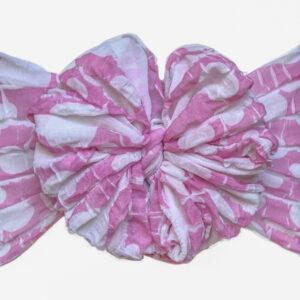 Pretty in Pink Ruffle Messy Bow Headwrap