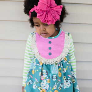 Candy Pink Ruffle Messy Bow Headwrap