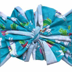 Llama Messy Bow Headwrap