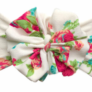 May Flowers Messy Bow Headwrap