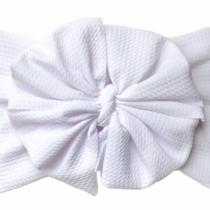 Classic White Messy Bow Headwrap