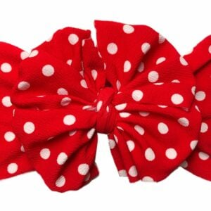 Red Polka Messy Bow Headwrap