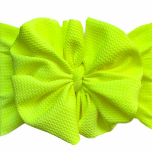 Neon Yellow Messy Bow Headwrap