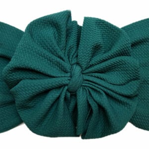 Emerald Green Liverpool Messy Bow Headwrap