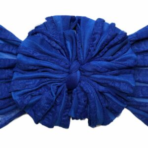 Royal Blue Ruffle Messy Bow Headwrap
