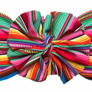 Crayon Stripes Messy Bow Headwrap