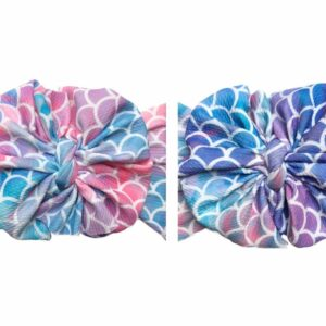 Mermaid Scales Messy Bow Headwrap