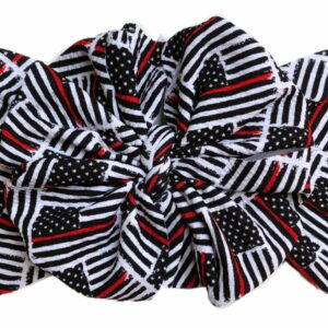 Thin Red Line Messy Bow Headwrap