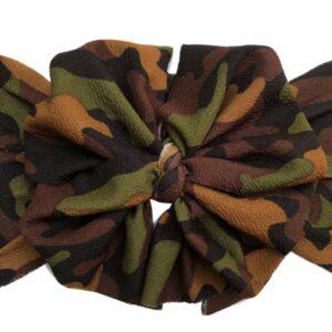 Camo Messy Bow Headwrap