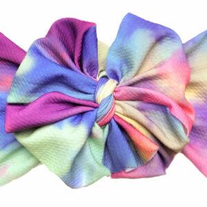 Tie DyeMessy Bow Headwrap