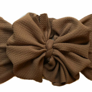 Light Brown Messy Bow Headwrap