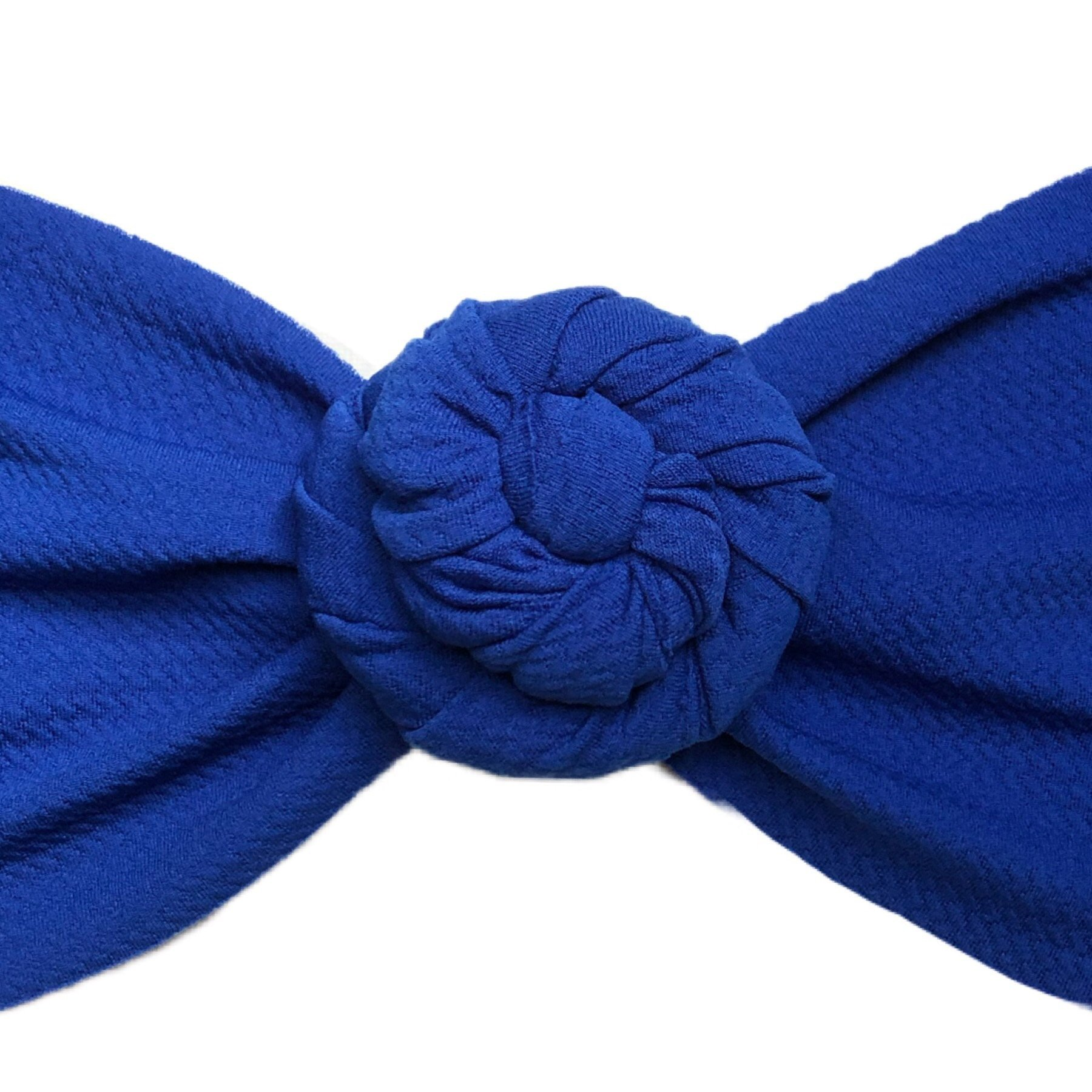 Royal Blue Liverpool Messy Bow Headwrap
