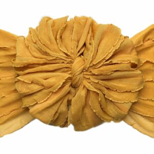 Mustard Ruffle Messy Bow Headwrap