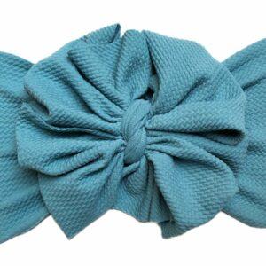 Viridian Green Messy Bow Headwrap