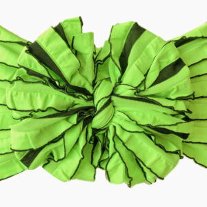 Monster Stripes Ruffle Messy Bow Headwrap