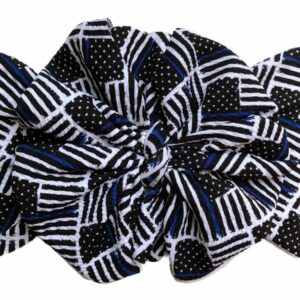 Thin Blue Line Messy Bow Headwrap