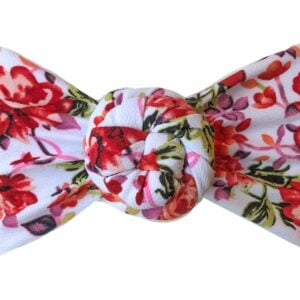 Fall Peony Liverpool Messy Bow Headwrap
