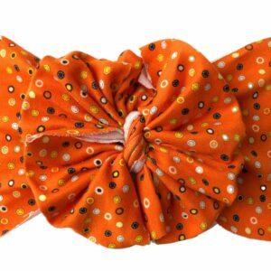 Spooky Confetti Messy Bow Headwrap